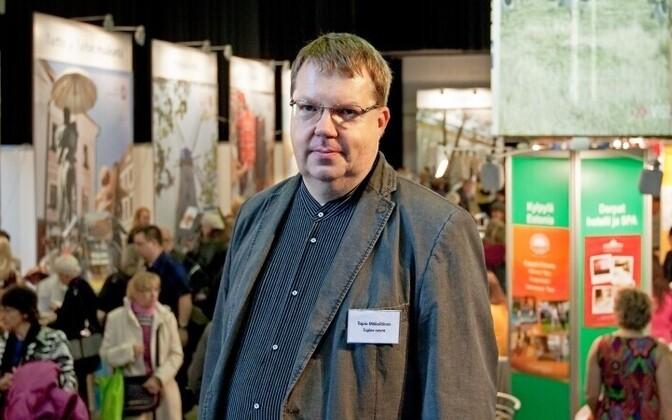 Tapio Mäkeläinen Helsingis läinud nädalavahetusel korraldatud Tuglase seltsi Mardilaadal.