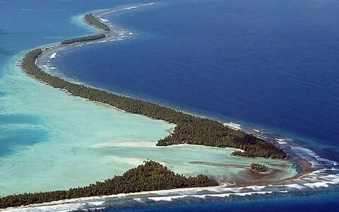 Funafati atolli, mis on koduks ligi pooltele Tuvalu 10 500 elanikust, ähvardab vee alla kadumine AFP Photo/Scanpix