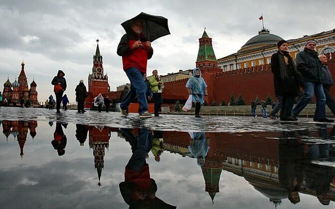 Turistid Moskvas Punasel väljakul ITAR-TASS/Scanpix