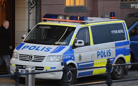 Rootsi politseiauto. AFP Photo/Scanpix