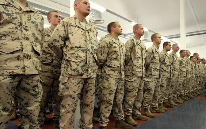 Военнослужащие Эстонии перед отправкой в Афганистан