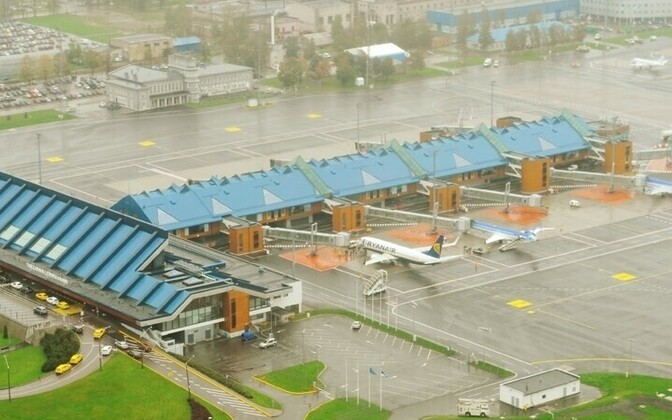 Tallinn Airport on a wet day