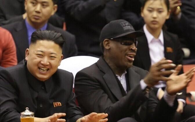 Kim Jong-un ja Dennis Rodman.