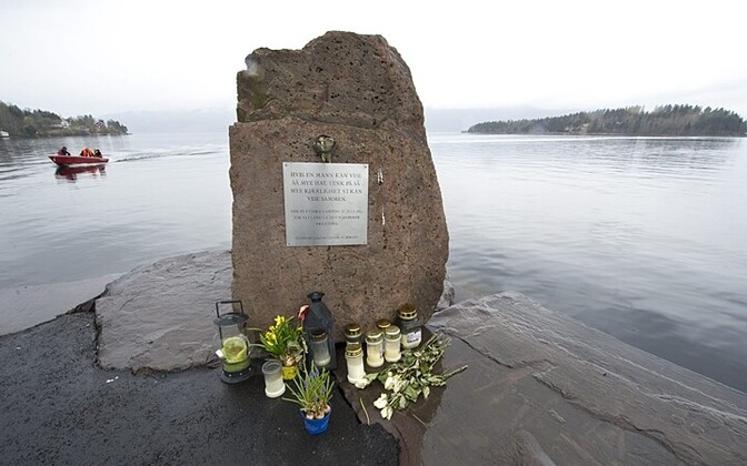 Mälestusmärk Utøya massimõrva ohvritele Scanpix Sweden