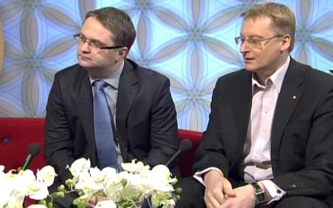 Janar Holm ja Ahto Orav.