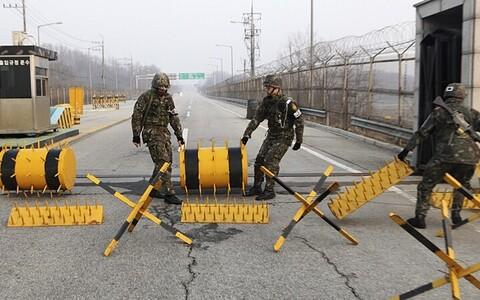 Граница Северной и Южной Кореи.