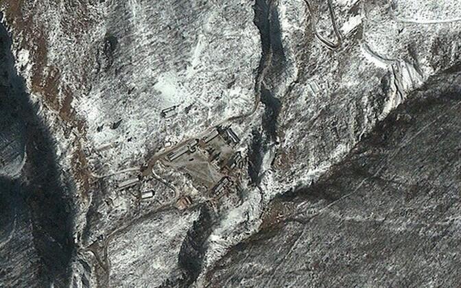 Ядерный полигон в Пхунгери в Северной Корее. Спутниковая фотография.