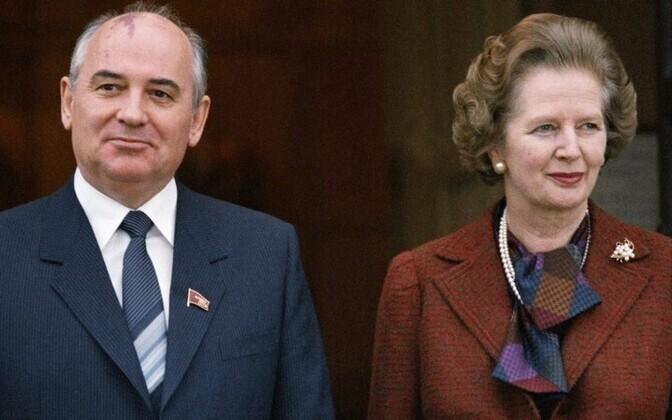 Margaret Thatcher ja Mihhail Gorbatšov 1984.