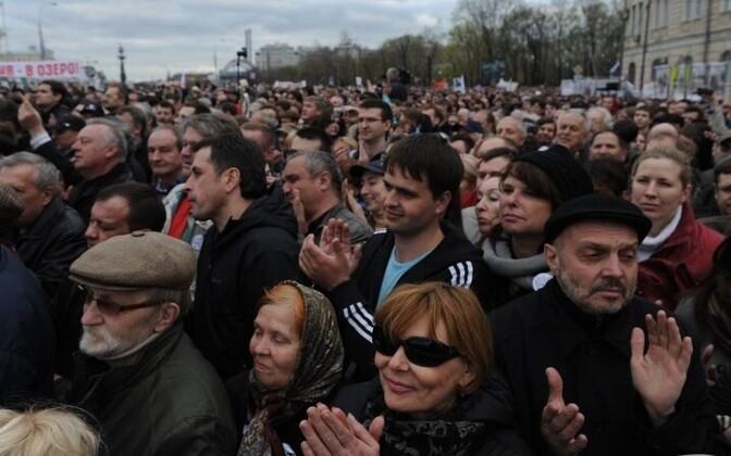 Митинг на Болотной площади в Москве 6 мая 2013.