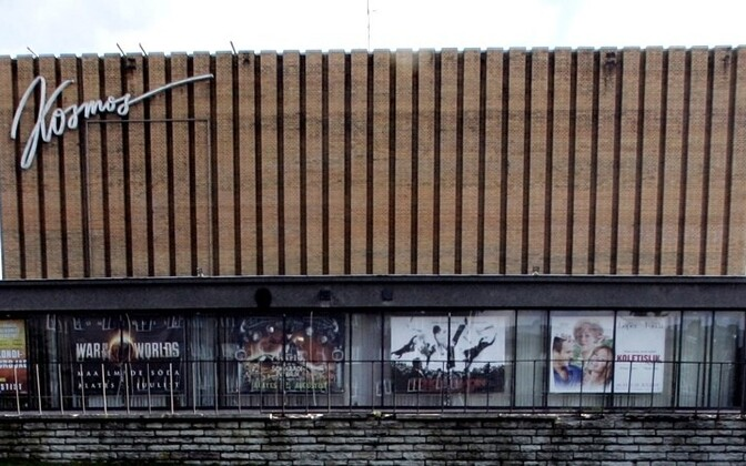 The exterior of Kino Kosmos has been largely unchanged since its construction in 1964.