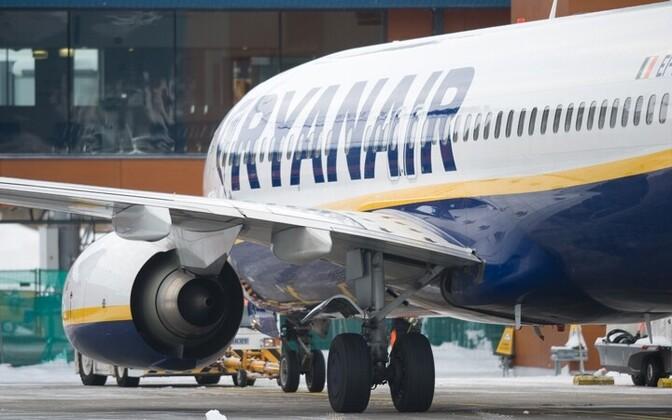 Ryanairi lennuk Tallinnas Postimees/Scanpix