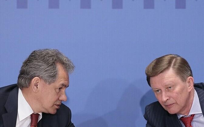 Venemaa kaitseminister Sergei Šoigu ja Kremli administratsiooni juht Sergei Ivanov AP/Scanpix