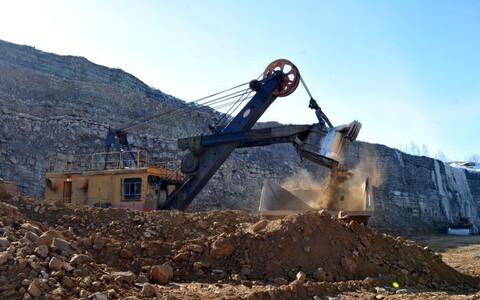 Põlevkivi kaevandamine.
