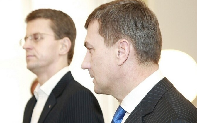 Ken-Marti Vaher (left) and Andrus Ansip