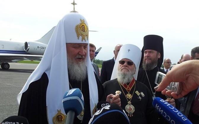 Patriarch Kirill arrived at Tallinn airport on Friday morning.