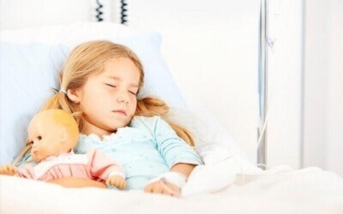 Laps haiglas.