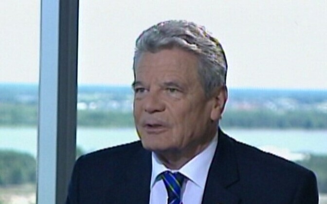 German President Joachim Gauck gave an exclusive interview to ETV. It will be aired at 22:15 tonight.