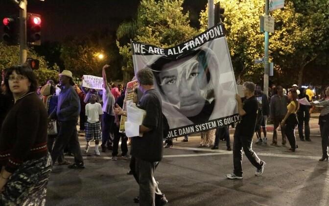 Los Angelesi meeleavaldus.