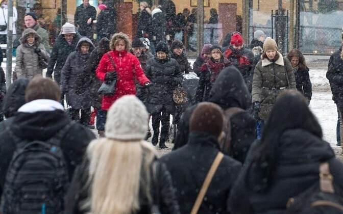 Everyone looks the same during Estonia's winters