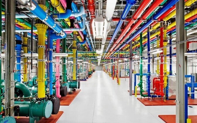 Google's data storage facility in the United States