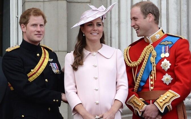 Printsid Harry ja William koos lapseootel hertsoginna Kate´iga.