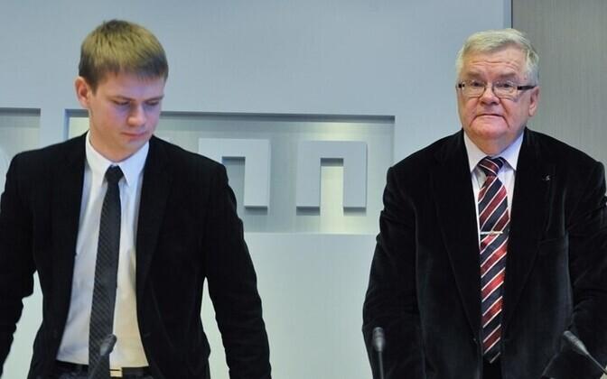 Advokaat Oliver Nääs ja Edgar Savisaar.