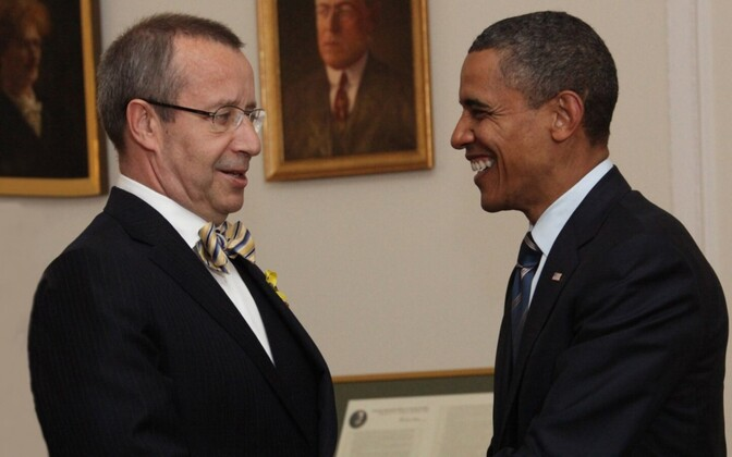 Presidents Ilves and Barack Obama on Wednesday.