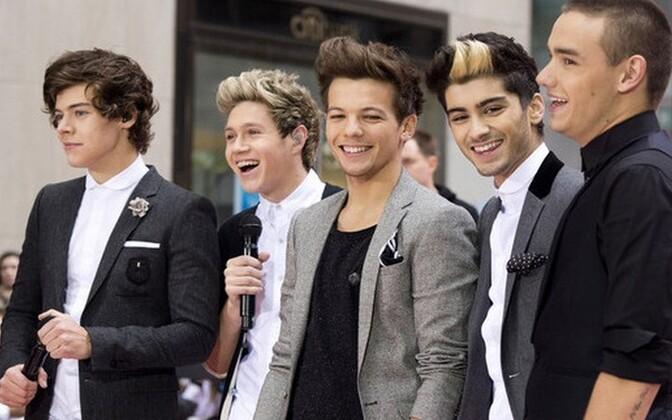 One Direction. Harry Styles, Niall Horan, Louis Tomlinson, Zayn Malik ja Liam Payne