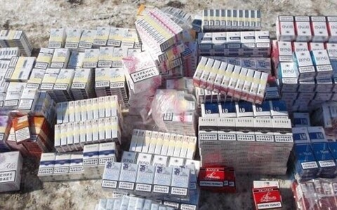 Confiscated counterfeit cigarettes.
