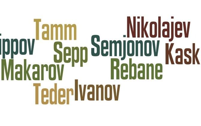Surnames common in Estonia.