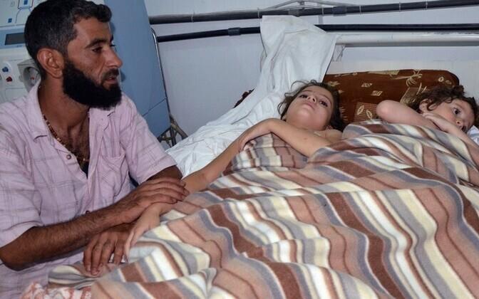 Väidetavas keemiarünnakus kannatanud lapsed kohalikus haiglas Reuters / Scanpix