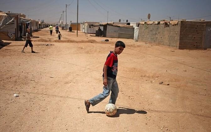 A Syrian refugee camp in Jordan