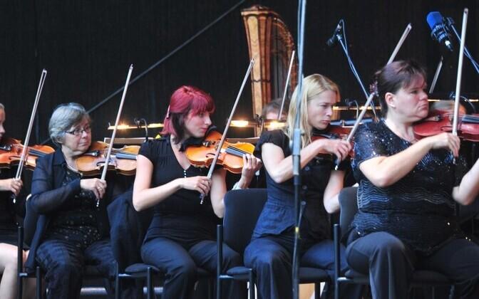 Vanemuise Sümfooniaorkestri muusikud.