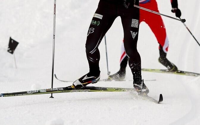 С наступлением снежной погоды жители Эстонии раскупили лыжи и санки. Иллюстративная фотография.