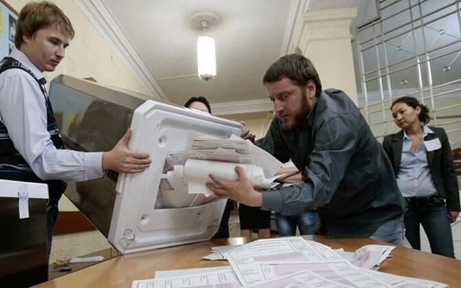 На выборах мэра Москвы 08.09.2013.