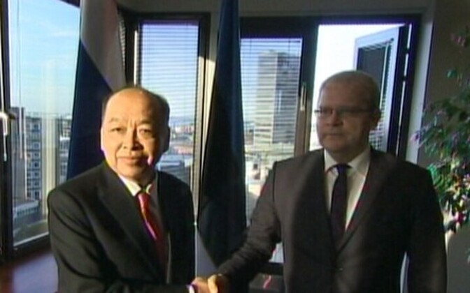 The foreign ministers of Thailand and Estonia
