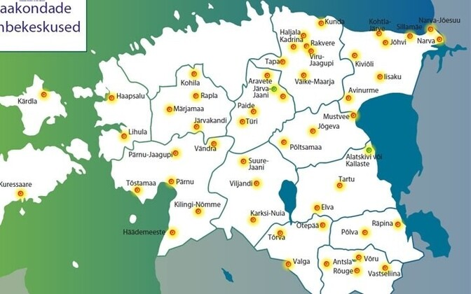 Map of population centers, Harju County will be updated in December