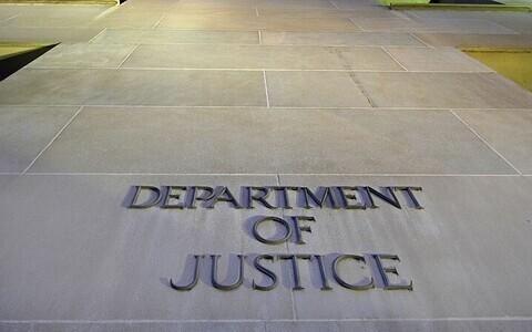 Здание министерства юстиции США в Вашингтоне.