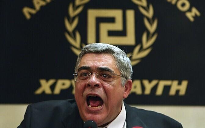 Kuldse Koidiku liider Nikolaos Michaloliakos Reuters/Scanpix