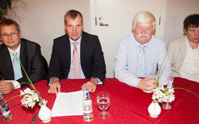 From left to right: Erik Vest, Karli Lambot, Hardo Aasmäe, Andrei Hvostov