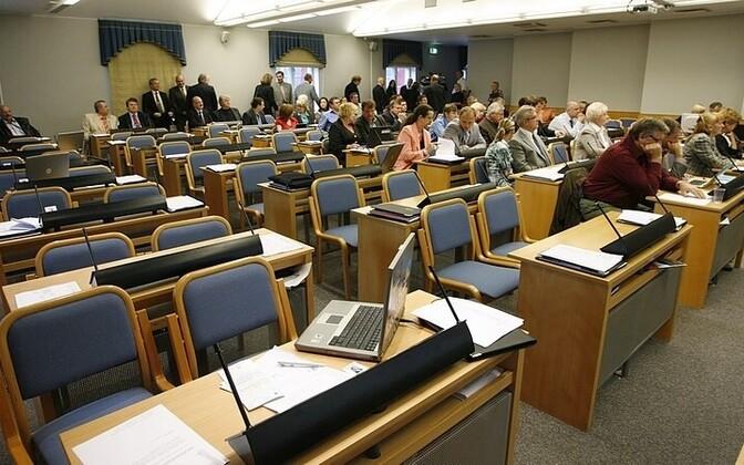 Tallinna linnavolikogu saal.