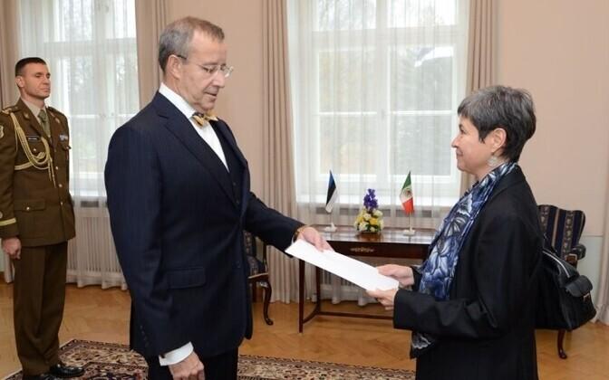 President Toomas Hendrik Ilves and Mexican Ambassador Norma Bertha Pensado Moreno