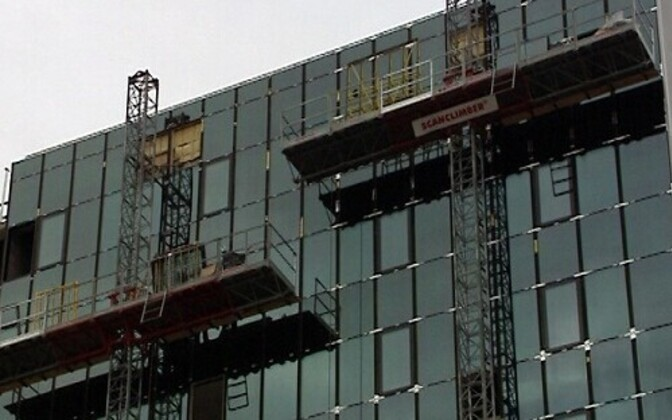 A Windoor glass facade being installed.