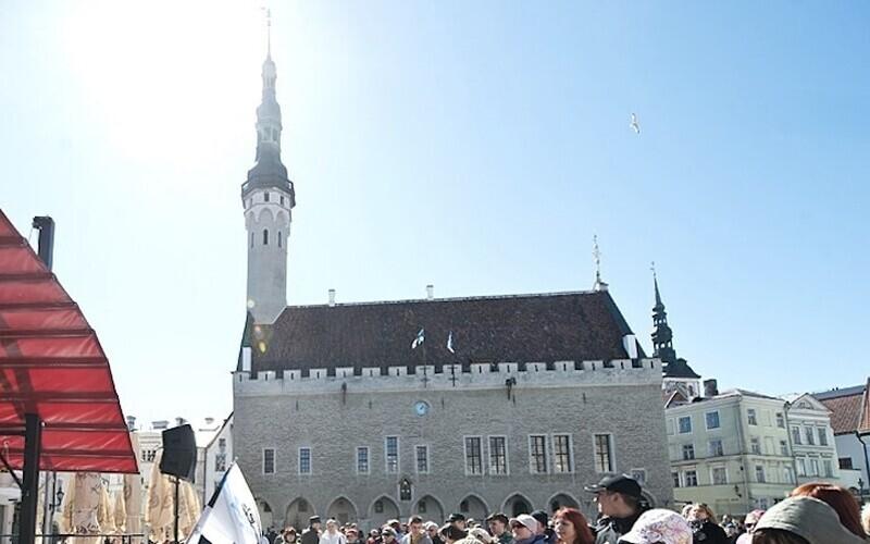 Ратушная площадь в Таллинне.