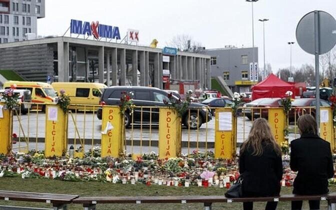 На месте трагедии в Риге.