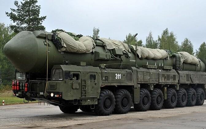 Venemaa kontinentidevaheline ballistiline termotuumarakett RS-24 Jars AFP/Scanpix