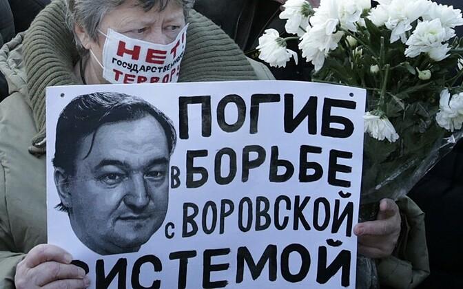 Naine hukkunud Sergei magnitski portreega 15.