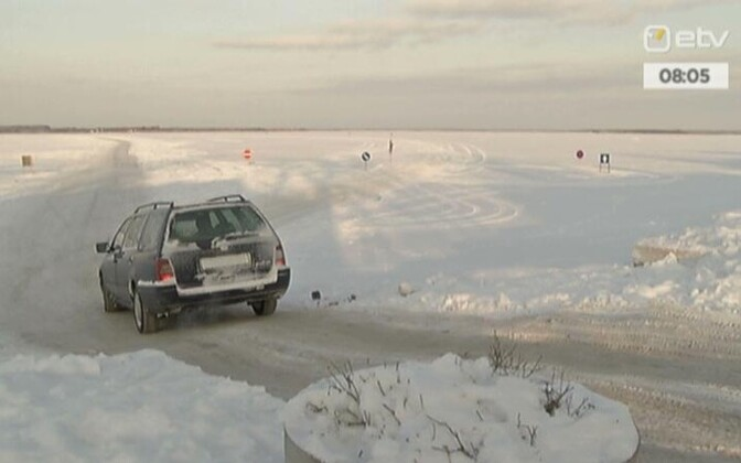 Driving on the ice is only permitted on official ice roads in Estonia.