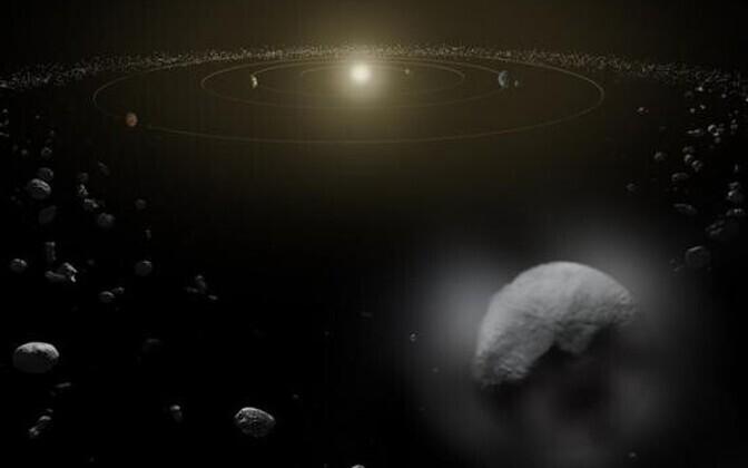 Kääbusplaneet Ceres aurab Päikese soojuses