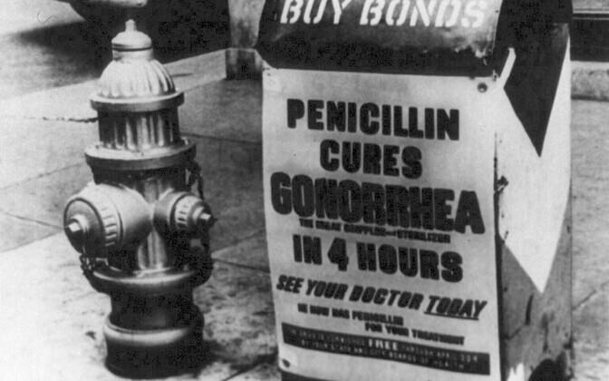 1944.  aastal oli penitsilliin USAs juba masstootmises.